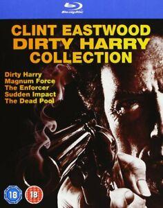 DIRTY HARRY BOX 1-5 COLLECTION CLINT EASTWOOD UNCUT BLU-RAY DEUTSCH NEUWARE OVP