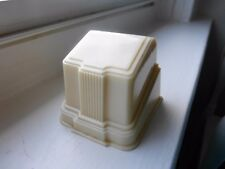 VINTAGE  CREAM SINGLE  DECO  RING BOX YELLOW VELVET INSIDE  EXCELLENT  CONDITION