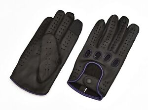 MEN's GENUINE LEATHER DRIVING RIDING GLOVES TEXTING GLOVES!