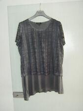 Ulla Popken Shirt in Tunika-Länge Lagenlook 46 / 48 grau*** Neuwertig ***