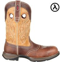 REBEL BY DURANGO COMPOSITE TOE WTRPF SADDLE WESTERN BOOTS DDB0123 * SALE