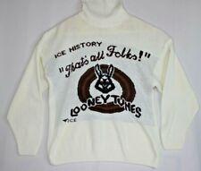Iceberg Jeans Cream/White Looney Tunes Bugs Bunny Knit Turtleneck Sweater Size L