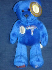 New! Blue Beanie plush New Jersey Quarters Bear w/pocket & Flag on Back w/Tag