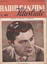 TOGLIANI RADIO CANZONI 1951 VAILATI CETRA MILLEPIEDI