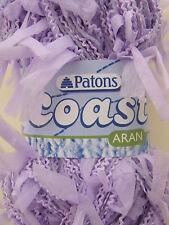 Patons COAST. 04 VIOLA. 50g ball.ARAN WEIGHT knitting yarn. EYELASH FASHION YARN