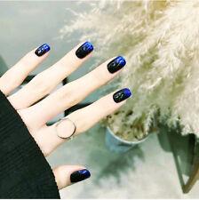 24Pcs Gradient Color Fake Finger Nails Full Cover Fake False Nail Art Tips DIY