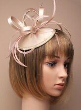 Large Champagne Headband Aliceband Hat Fascinator Wedding Ladies Day Race Ascot