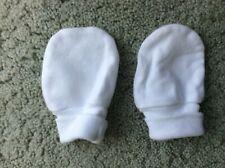 100% Cotton White Newborn Gloves