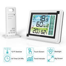 Lcd Digital Indoor Outdoor Thermometer Hygrometer Humidity Meter Wireless Sensor
