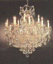16 LIGHT CRYSTAL CHANDELIER FIXTURE LIVING OR DINING ROOM FOYER KITCHEN HALLWAY
