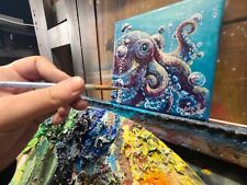 Octopus Original Oil Painting, Signed, by Dakota Daetwiler