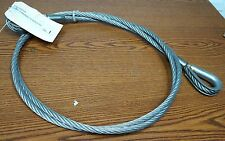 "1/2"" x 8' Steel Wire Rope Sling Winch extension Thimble eyes w Cold Tuff Fitting"