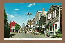 Bearskin Neck, Rockport on Cape Ann, busy shopping scene MA Massachusetts