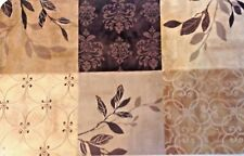 "VINYL PLACEMATS LEAVES TAUPE TAN GRAY SET 4 DAMASK PATTERN 11""X17"""