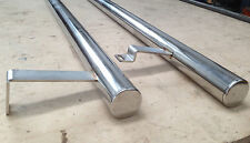 SWB VW T5 stainless Steel side bars SLASH CUT ENDS easy fit