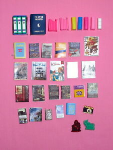 LOT of Miniature BOOKS - Diorama Props - 1:6 and 1:4 Scale