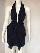 Sharon Wauchob Black Lace Vest, Size 6
