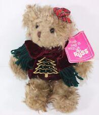 "Russ Berrie Luv Pet Brittany Jr. Bear 9"" Plush Stuffed Animal Christmas Sweater"