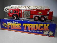 FIRE TRUCK AERIAL TOWER LADDER SUNOCO #2 WORKING LIGHTS, SOUND, NEW IN THE BOX