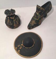 Vtg S/3 Lady Zandra Mini Classic Couture Fashion Shoe Handbag Hat Premier 1999