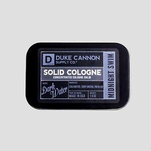 Duke Cannon Midnight Swim Solid Cologne Tin Container 1.5 oz USA Sandalwood