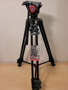 Manfrotto MVH500A Fluid Drag Video Head System MVT502AM Tripod