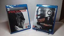 Predator Trilogy(1,2+Predators)+RobocopTrilogy(Blu-rayDisc)NEW-Free S&H-6 Movies