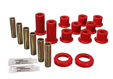 Energy Suspension Leaf Spring Bushing Set Red Rear for Chevrolet, GMC # 3.2129R