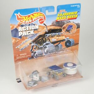 NIB Mattel Hot Wheels Action Pack JPL Sojourner Mars Rover Model Toy NASA New in