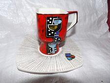 Raro Taza/platillo de Cerámica de San Marino años 60 Giulianelli Londi Bagni BITOSSI? NO2