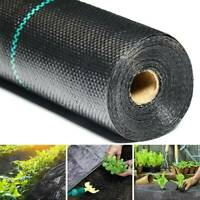 1m 2m Widths Weed Barrier Fabric Ground Cover Membrane Mulch Garden Landscape.