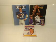 Beckett Football & Basketball Price Guides 1992 & Jim Kelly Sports Card n243