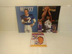 Beckett Football & Basketball Price Guides 1992 & Jim Kelly Sports Card n243