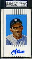 YOGI BERRA PSA/DNA RON LEWIS POSTCARD SIGNED AUTHENTIC AUTOGRAPH
