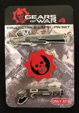 **RARE** Gears of War 4 - GOW Collectible Crimson Omen & Guns Lapel Pin Set of 3