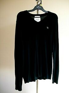 MENS ABERCROMBIE AND FITCH SWEATER, CASHMERE BLEND, SIZE XL, VG CONDITION. BLACK
