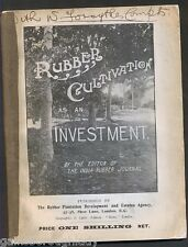 RUBBER CULTIVATION AS AN INVESTMENT - INDIA RUBBER JOURNAL - 1906