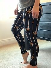 NWT Buttery Soft Christmas Gold Snowflake Star Legging One Size S M L Holiday OS