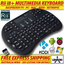 Genuine Rii i8+ Wireless 2.4Ghz Keyboard Backlit Remote Raspberry Pi PC Android