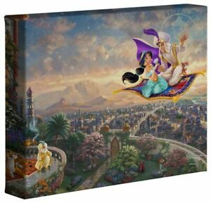 Thomas Kinkade Studios Aladdin, Little Mermaid & Tangled 8 x 10 (3) Wraps