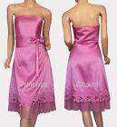 NEW Black Purple Satin Formal Dress Size 10 12 14 16 18 20 22 New