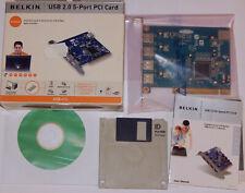 Belkin 5-fach USB 2.0 Connexion PCI Carte Windows 98 Se Pilote CD + Disquette