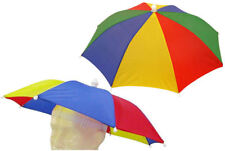 Rainbow Umbrella Hat - Festival Rave Outdoor Foldable Fishing Cap Joke Gift Sun