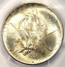 1936-D Texas Half Dollar 50C Coin - PCGS MS67+ PQ CAC Plus Grade - Near MS68!
