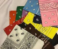 Bandana's--12 pack-Orange, Green, Purple, Blue, Red, Black, Yellow, Dark Blue, L