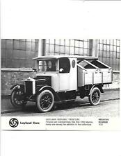 1926 Morris Camion commerciali PRESS PHOTO BROCHURE per scopi cronologici