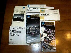 Vintage Minolta and Nikon Manuals