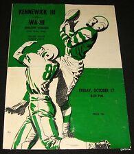 RAY MANSFIELD PITTSBURGH STEELERS 1958 KENNEWICK HIGH FOOTBALL PROGRAM WA-HI