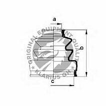 Austin Metro (1980-1990) *New* Inner CV Rubber Boot Kit Veco VH 5308