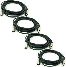 4 x 6 m 3-pol Mikrofonkabel Adam Hall K3 MMF 0600 XLR DMX Mikrofon Kabel 3 pol